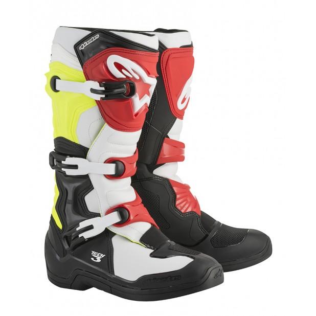 bota alpinestars tech 3 NEW 2018 preto branco amarelo vermelho
