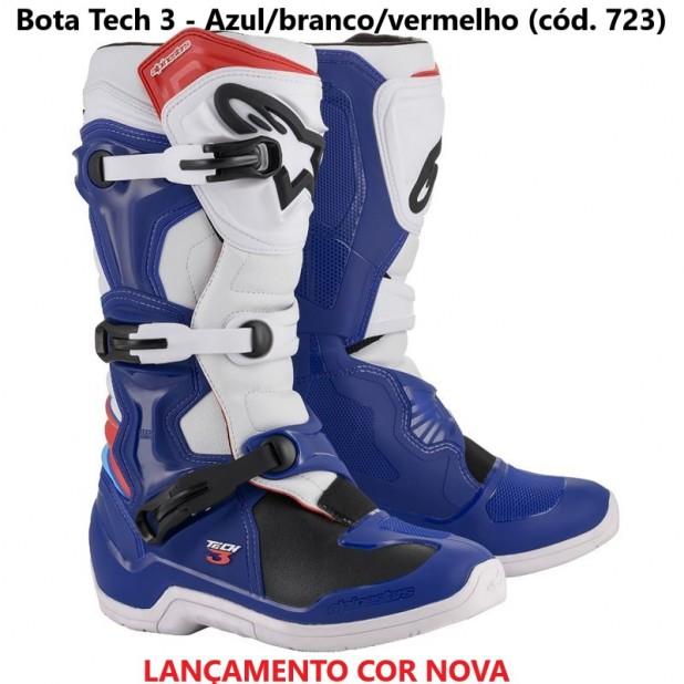 bota alpinestars tech 3 NEW 2020 AZUL BRANCO VERMELHO