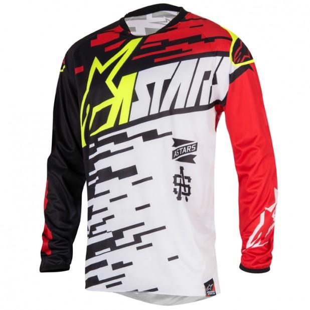 Camisa Alpinestars Racer Braap 16 Branco/Vermelho/Preto