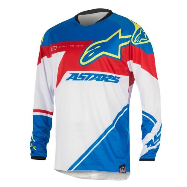 Camisa Alpinestars Racer Supermatic 16 Azul/ Vermelho/ Branco