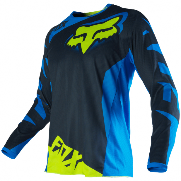Camisa Fox 180 Race 16 Blue/Yellow