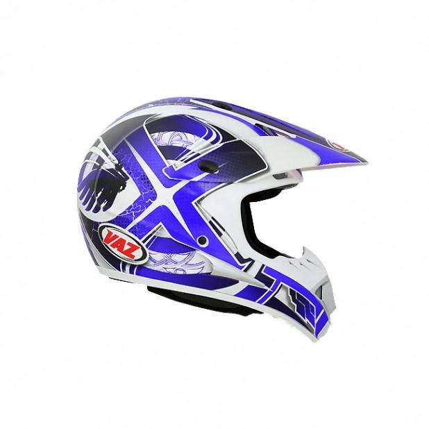 Capacete VAZ VMX - Viper Branco/Azul