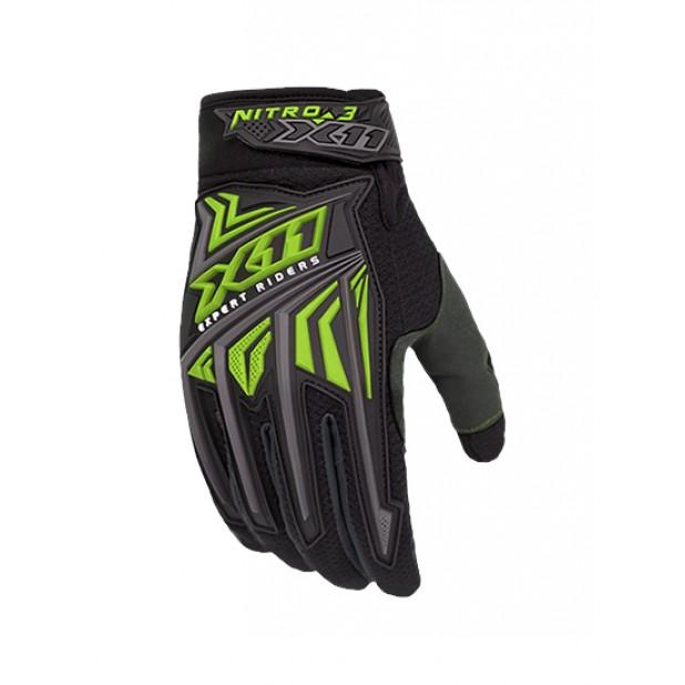 Luva X11 Nitro 3 Preto/Neon