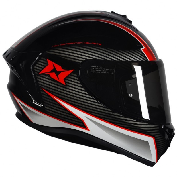 AXXIS DRAKEN TRACK GLOSS BLACK WHITE RED
