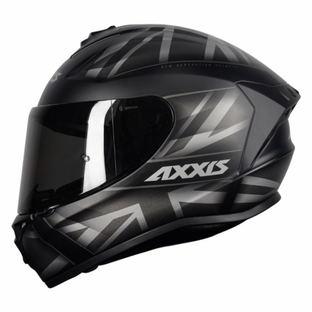 AXXIS DRAKEN UK MATT BLACK/GREY