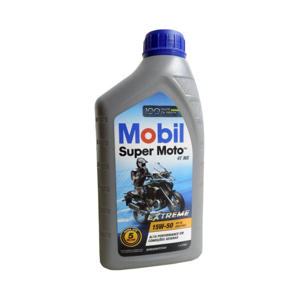 Óleo Mobil Super Moto 4T MX 15W-50 1L
