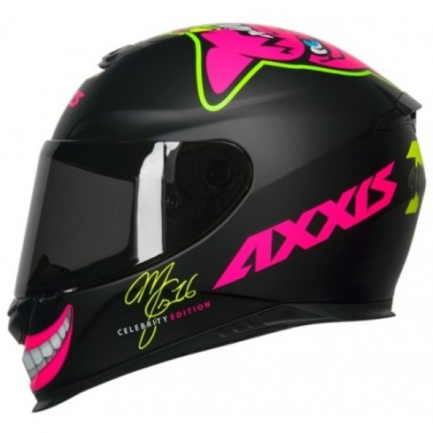 Capacete Axxis Eagle MG16 CELEBRITY EDITION BY MRIANNY MATT BALCK