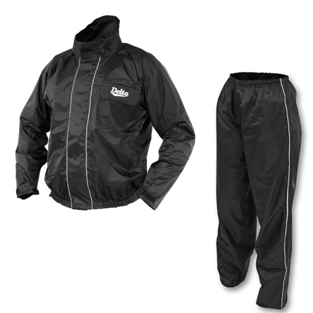 Conjunto Chuva Delta Nylon New Flash Preto/Cinza