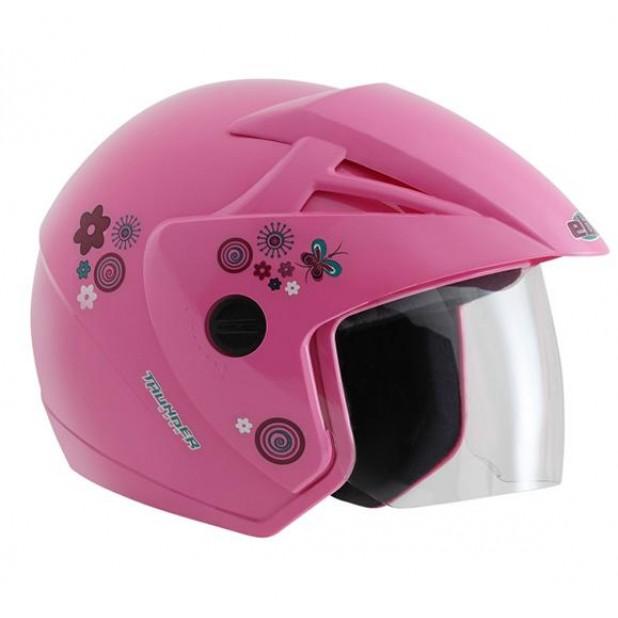 Capacete EBF THUNDER aberto rosa