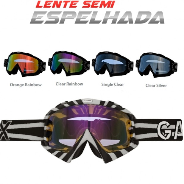 Lente Oculos Gaia MX Rainbow Anti Embaçe